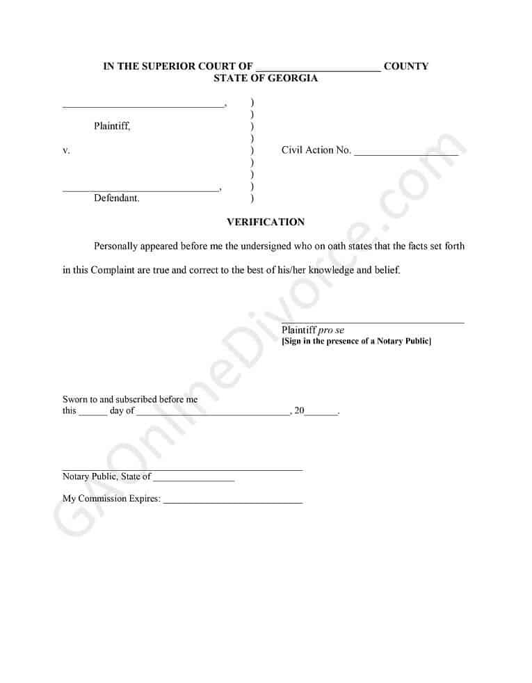 divorce verification diy