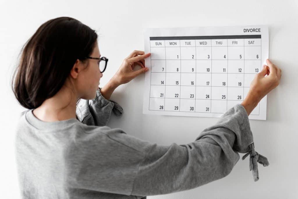 scheduling time for divorce