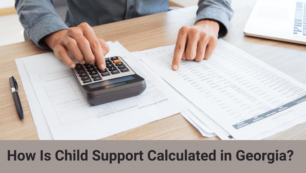 man calculating child support in Georgia state
